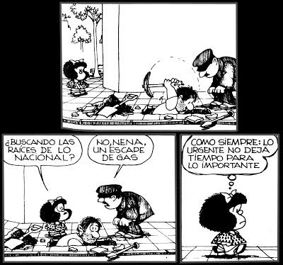Mafalda lo urgente y lo importante