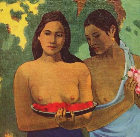 Dos mujeres tahitianas