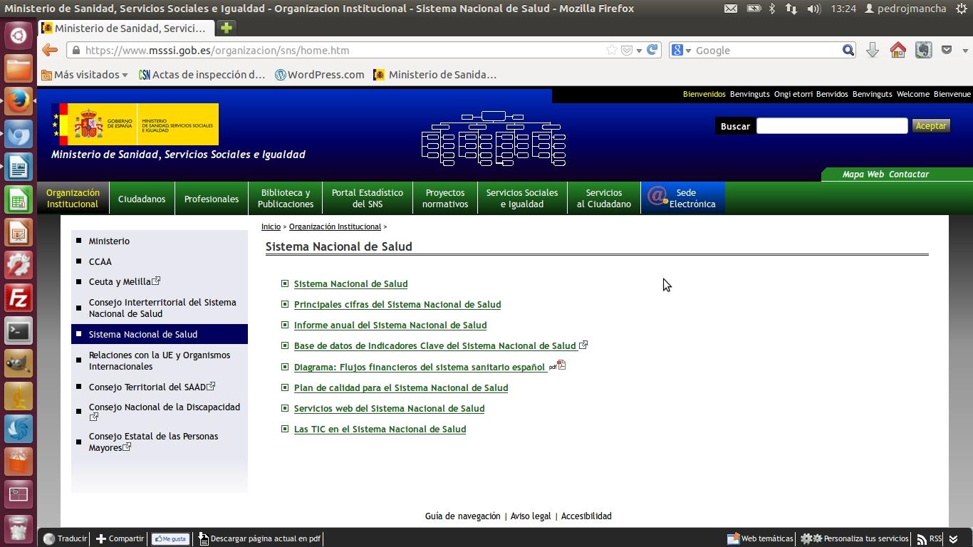 La consulta interactiva del sistema nacional de salud for Pagina web del ministerio