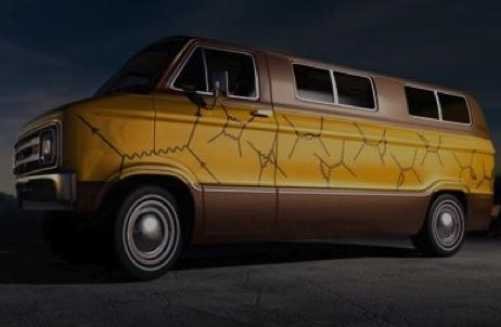 Mítica furgoneta de la familia Feynman