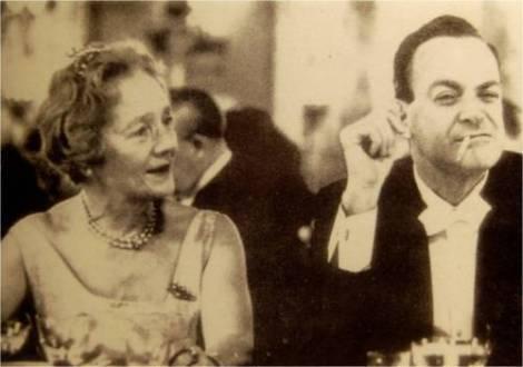 Feynman con la princesa de Dinamarca