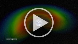 Video que muestra los cambios en forma e intensidad de los cinturones de Van Allen entre el 7 de Septiembre y el 20 de Octubre de 2012. Fuente: http://svs.gsfc.nasa.gov/vis/a010000/a011000/a011013/3950_RBSP_540_MASTER_high.mp4