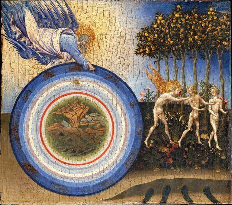Giovanni di Paolo (Giovanni di Paolo di Grazia) (Italian, Udine 1487–1564 Rome) - The Creation of the World and the Expulsion from Paradise