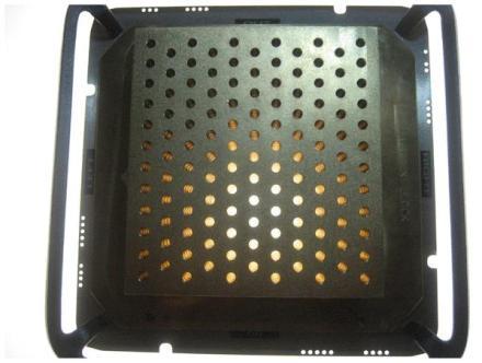 """Colimador utilizado en la técnica """"Grid"""" (Buckey, 2010)"""