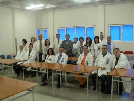 Personal de Radioterapia junto con los expertos de QUATRO