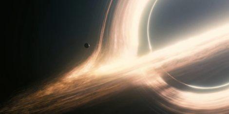 Gangantua, el agujero negro icono de la película. Fuente: interstellar-movie.com.