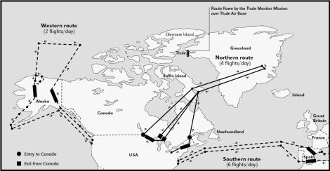Descripción en 1966 de la Operación Chrome Dome, vuelos relacionados o derivados [14]