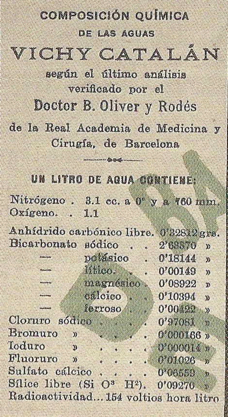 Agua mineral de Vichy Catalán (1944)