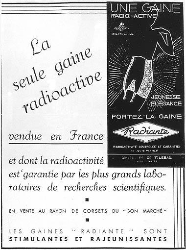 """""""Radiante"""", la única faja radiactiva, estimulante y rejuvenecedora"""