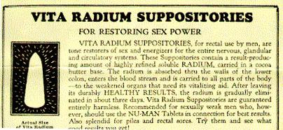Supositorios para recuperar el poder sexual en hombres