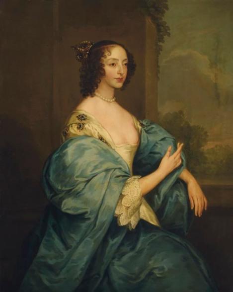 El cuadro de Henrietta Maria, tal y como fue comprado. Unos meses tras la adquisición, a un grupo de conspicuos fotones les fue concedida audiencia para intercambiar impresiones con la reina.