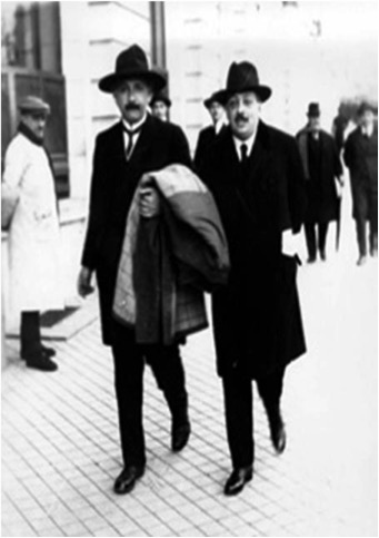 Marie Curie y Albert Einstein en sus visitas a España acompañados por Blas Cabrera