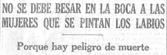 Noticia publicada en La Voz en los años 30 (mil gracias a @mtascon)