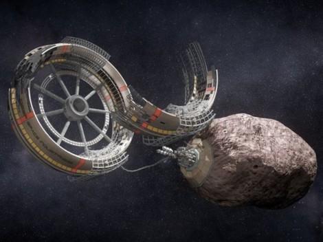 Minería de asteroides. Fuente: Deep Space Project