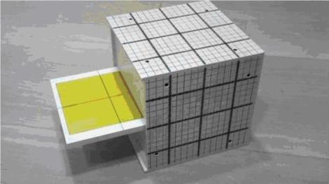 Figura 2.- Maniquí conteniendo placas radiocrómicas en uno o varios planos