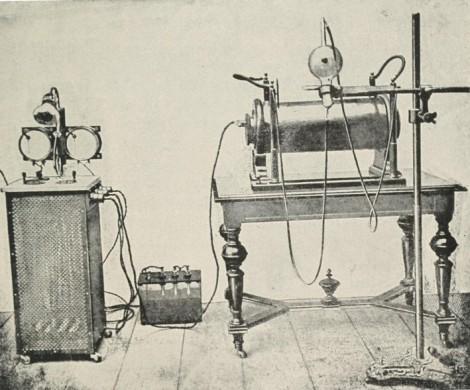 Equipo fabricado por Siemens & Halske similar al utilizado por Despeignes.